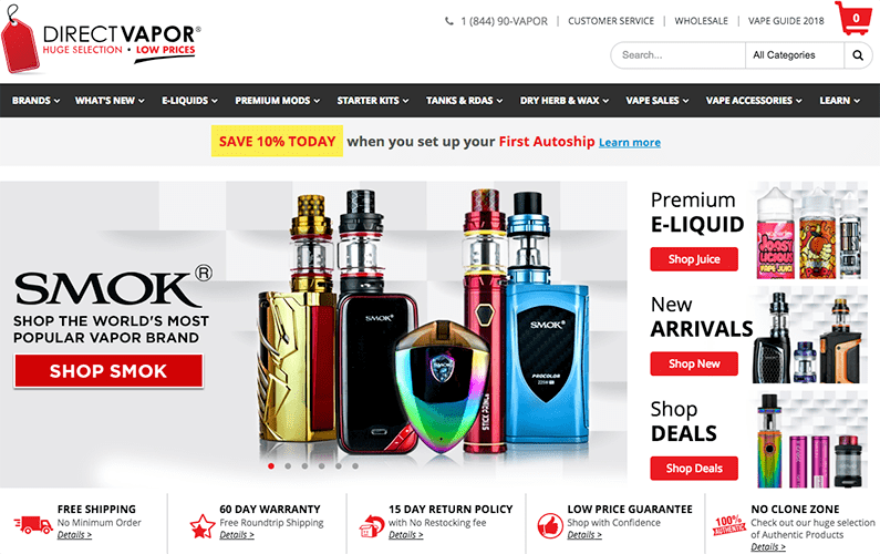 Direct Vapor Review - Does the Vape Store Live Up to it's Reputation?